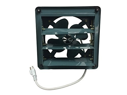 Tjernlund 9800513 Professional Grade Products 12' Metal Shutter Exhaust Fan for Garage Shed Pole Barn Hydroponic Ventilation