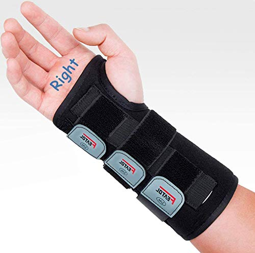 Wrist Brace for Carpal Tunnel, Adjustable Wrist Support Brace with Splints Right Hand, Small/Medium, Arm Compression Hand Support for Injuries, Wrist Pain, Sprain, Sports