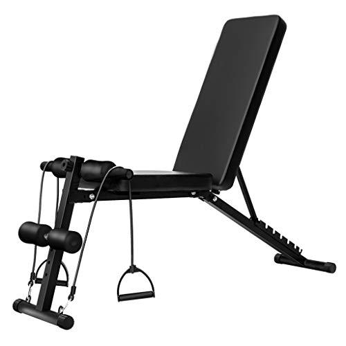Workout Bench Opvouwbare & Verstelbare Fitness Trainingsbank voor volledige lichaamstraining, zitbank met 7 rugkussenposities en 4 beenhoogtes