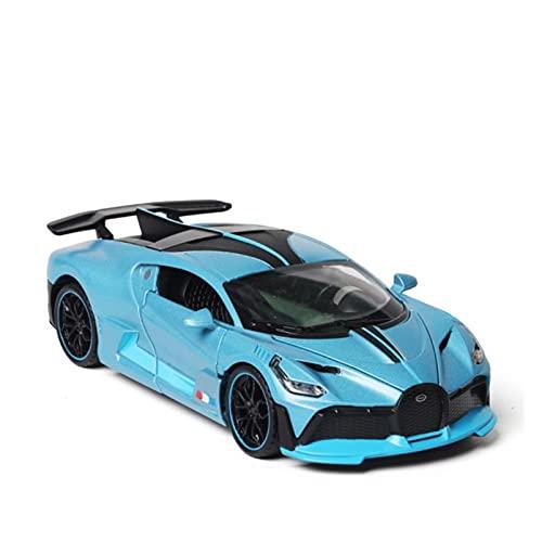 Coche de juguete 1:32 para Bugatti para Divo Metal Juguete Aleación Coche Diecasts Vehículos de Juguete Modelo de Coche Juguetes para Niños Regalo (Color: Azul)