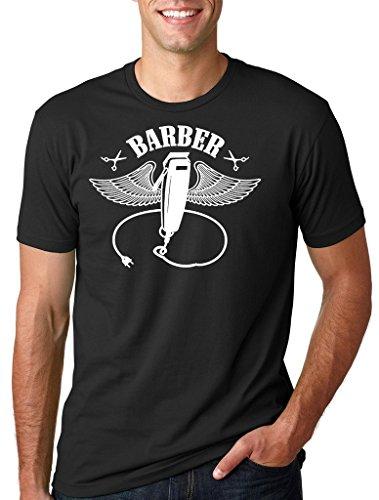 Silk Road Tees Peluquería Profesion peluquería de la Camiseta de los Hombres papá del Peluquero Camiseta Fresca Medium Negro