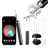 BEBIRD M9 Pro, Ear Cleaning Endoscope, Wireless Ear Cleaning Camera 1080P FHD with 6 LED Light, Waterproof 3.5mm Ultra-Thin Ear Scope Temperature Control for All Mobile Devices (Black)