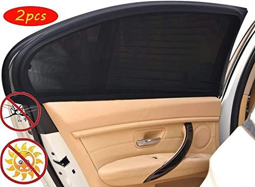 N/C 2 Stück Sonnenschirm Auto frontscheibe,Sonnenblende Sonnenschutzrollo,Auto Sonnenschutz Kinder,UV Schutz Sonnenschutzrollo Auto,Auto seitenfenster Sonnenschutz,Universal Sonnenblende.