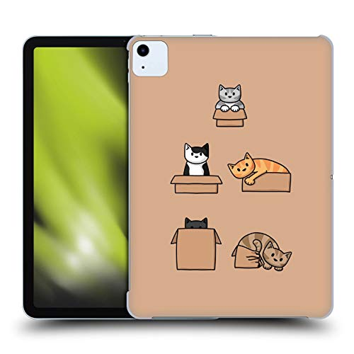 Official Beth WIlson Boxes Doodle Cats 2 Hard Back Case Compatible for Apple iPad Air (2020)