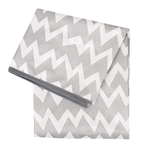 Bumkins Splat Mat, Waterproof, Washable for Floor or Table, Under Highchairs, Art, Crafts, Playtime 42x42 – Gray Chevron
