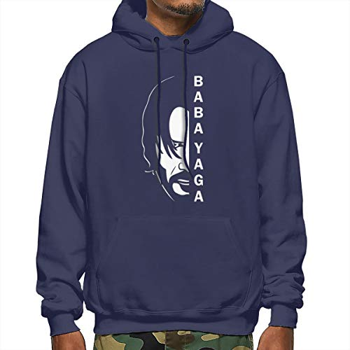 B-shop Baba Yaga&John Wick Hooded Sweater For Men's,Men's Polyester Sleeve Hooded Sweater