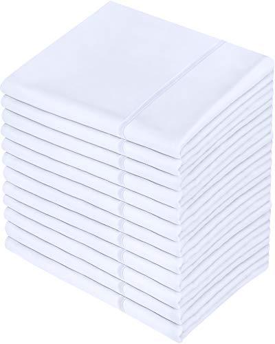 Utopia Bedding Juego de 12 Fundas de Almohada - Microfibra Cepillada - (Blanco, 50 x 75 cm)