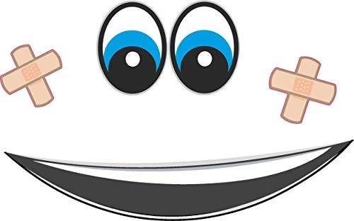 Augen Aufkleber für Saugroboter, Mähroboter Wischroboter Thermomix Sticker Set Roboter (Mund, Pflaster Augen Blau)