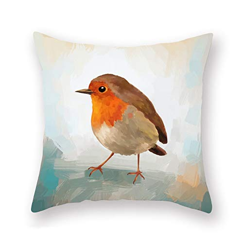 Fukeen Watercolor Birds Throw Pillow Covers Adorable Animal Bird Decorative Pillows Cushion Cover Super Soft Square Standard 18x18 Inches Pillow Cases Home Accent Decor