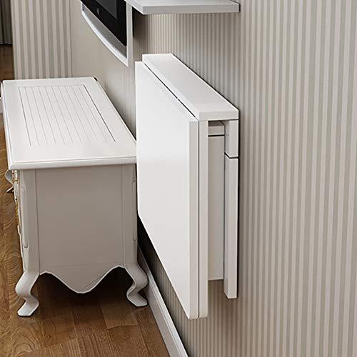 LXLA- Escritorio de Mesa Plegable de Madera Plegable, Mesa de Pared Blanca para Cocina y Comedor, Mesa de Estudio para niños (Size : 120cm×60cm/(47.24