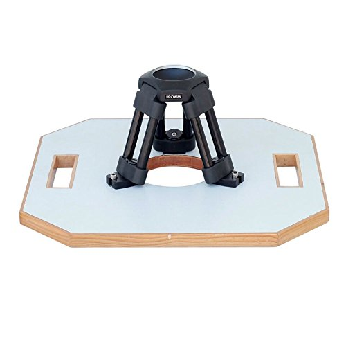 """PROAIM Heavy-Duty Hi-Hat with 75mm Bowl – Aluminum Camera Riser/Mini Tripod Stand + Octagon Wood Board 15.5x15.5""""