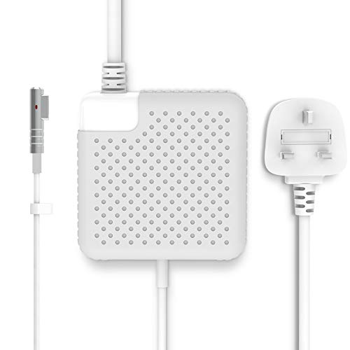 SUAMLAND Compatible Mac Book Pro Charger, MacBook Air charger 60W Magsafe Power Adapter (L Tip) for Mac Book and MacBook 11 inch & 13 inch - Made Before Mid 2012 (With UK Extension Power Cord)