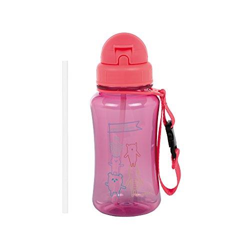 LÄSSIG Kinder Trinkflasche mit Strohhalm Auslaufsicher Kunststoff Tritan/Drinking Bottle About Friends
