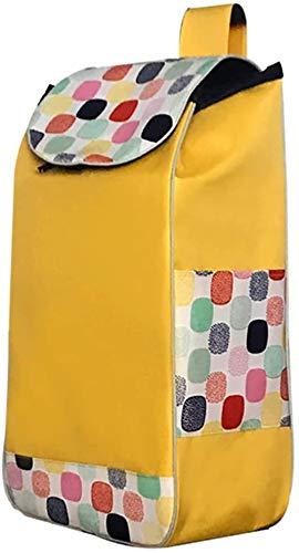 Carro de Compra Carrito de la compra Cesta de la compra cesta de la compra Carro de reemplazo bolsa con bolsillos laterales Bolsa de repuesto for el tranvía, tela Oxford bolsa-31L, Amarillo Trolley Ba