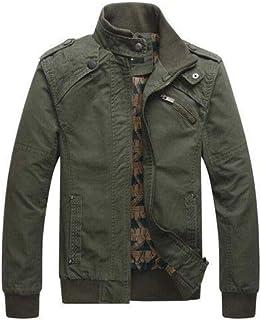 Nilesh Men's Coats Jackets,Winter Casual Fashion Pure Color Patchwork Jacket Zipper Outwear Coat (Nilesh JK67)