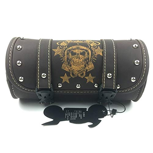 Motorcycle Saddlebags PU Leather Front Fork Tail Tool Bag Luggage For XL 883 1200 (Color Name : 3)
