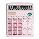 Ashley GAO Calculadora Solar de escritorio de 12 dígitos Botones grandes Herramienta de contabilidad empresarial financiera Botones grandes para estudiantes de la escuela