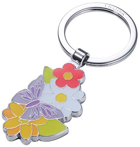 TROIKA SUMMERGARDEN – KR19-01/CH – Schlüsselanhänger – Blumenwiese, Bouquet, Blumenstrauß – Geschenk für Damen – glänzend – Mehrfarbig – TROIKA-Original