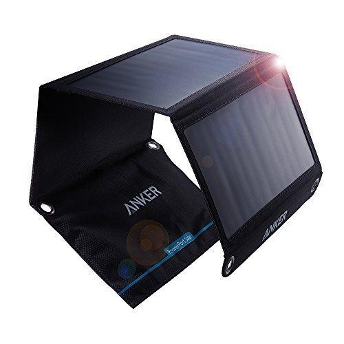 Anker PowerPort Solar Ladegerät 21W 2-Port, USB Solarladegerät für iPhone 7 / 7s / 6s / 6, iPad Air 2 / mini 3, Galaxy S7 / S6 / S6 Edge und Tablet (Generalüberholt)