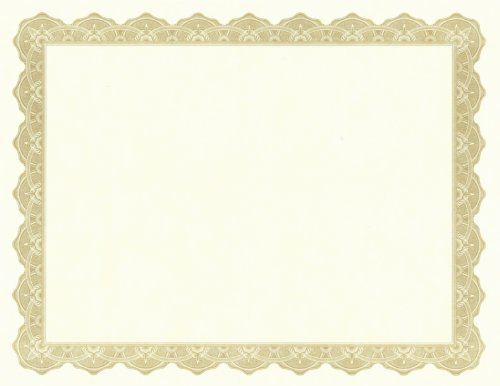 Geographics Optima Gold Award Certificates with Foil Seals, 8.5'x11', 25/PK