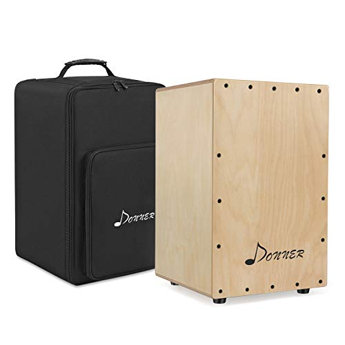 Donner DCD-1 Cajon Drum Box Full Size Wooden Cajon Drum Kit Birch Wood...
