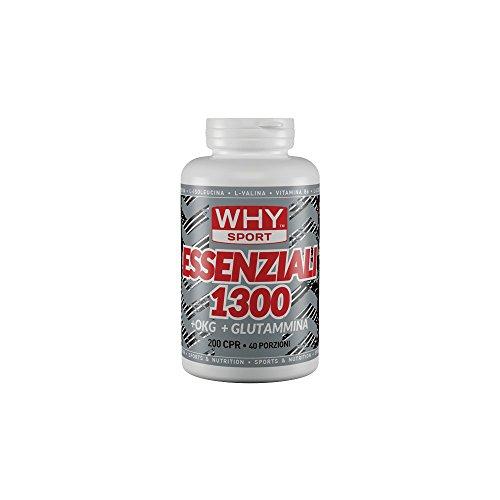 Why Sport Essenziali 1300 - Integratore alimentare di aminoacidi essenziali