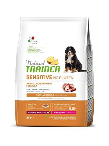 Trainer Sensitive No Gluten Puppy & Junior Medium Maxi Anatra 3 kg