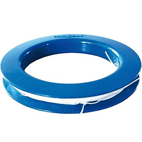 Rhombus Drachenschnur mit Ringgriff blau 25 m Leine (15 kp) Dacron