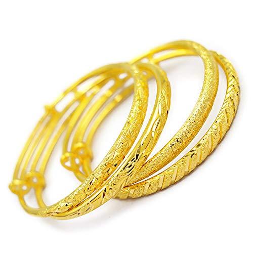 Hermoso y noble Hermosa moda 14k oro boda de la boda brazalete de compromiso imprimido pulsera de oro deslizable estrella de la pulsera de la ducha de meteorito regalos de la joyería Dar un regalo