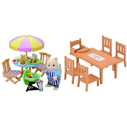 Sylvanian Families Set Barbacoa (Epoch para Imaginar 2239) + - 4506 - Mesa y sillas de Comedor