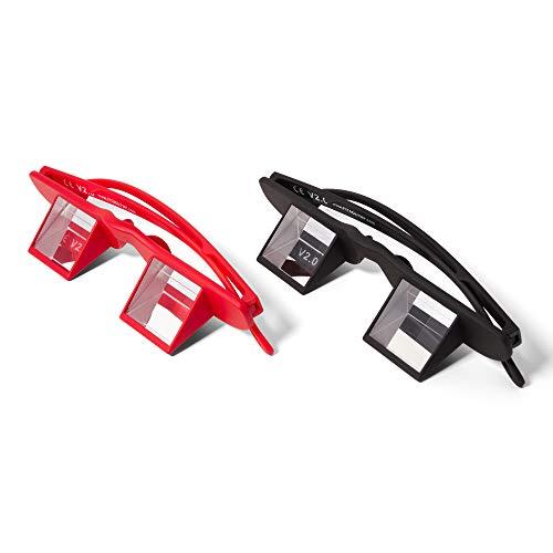 FIT4OLYMP® Sicherungsbrille Kletterbrille zum Klettern sichern Belay Glasses für Brillenträger Nacken entlasten Climbing Prisma Winkelbrille (Black)