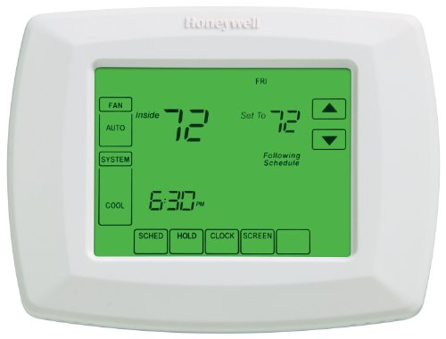 "Honeywell RTH8500D 7-Day Touchscreen Programmable Thermostat, ""C"" Wire Required, White, 1Package (Thermostat) (RTH8500D1013/E1)"