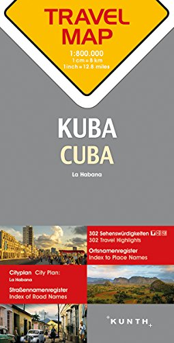 Reisekarte Kuba 1:800.000: Travel Map Cuba - Partnerlink