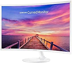 Samsung 27in White Super-Slim Curved 1080p LED Monitor,...