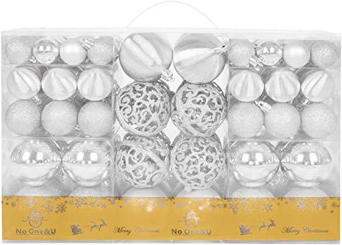Christmas Balls Ornaments 100pcs Shatterproof for Decorating Christmas Tree,Christmas Tree Hanging Balls with Reusable Hand-held Gift Package for Holiday Xmas Tree Decorations.