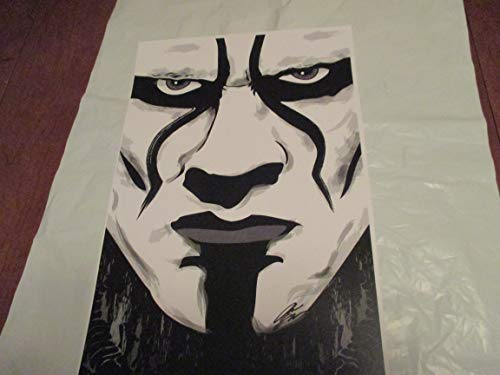 """WWE STING !! 11"""" By 17"""" Limited Edition Print Signed By Chris Huffman"""