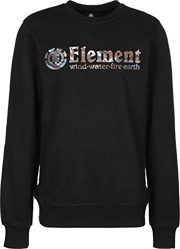 Element Horizontal Fill Crew Sudadera, Hombre, Negro (Flint Black), L