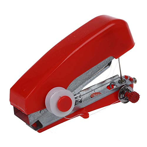 Best Bargain Present Home &Travel Use Mini Portable Hand-held Sewing Machine-Red-