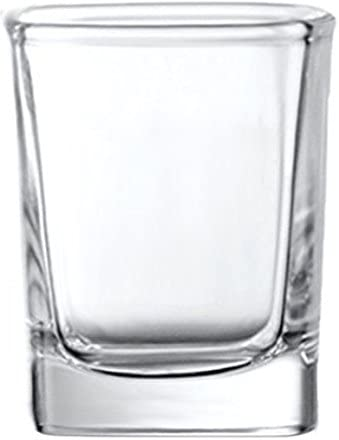 Circleware Take Square Shot Glasses Set Super special price Ounce 2.3 6 of Clear Classic