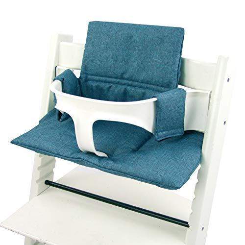 Bambiniwelt - Juego de funda de repuesto para trona o silla infantil Stokke Tripp Trapp, reductor de asiento (mérizado) MELIERT Olive ORGI.