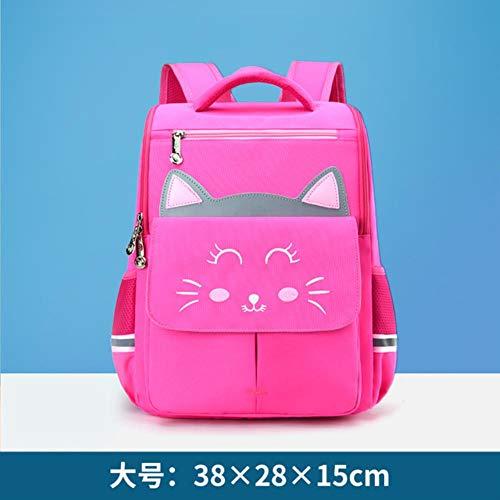 XMYNB School bag Waterproof Children School Bags For Boys Girls Schoolbag Kids Cat School Bag Book Bags Primary School Backpacks,Large Rose Red