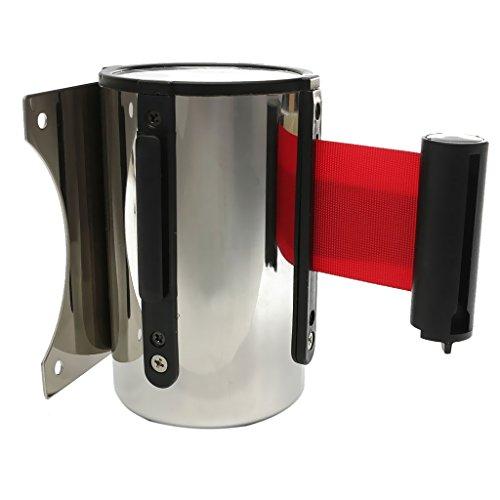 Sharplace Fixture Display Stanchion Queue Barrier Retractable Ribbon Belt 2 + 5m Rouge