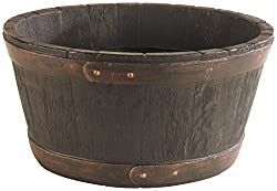 Realistic rustic barrel appearance Generous size Tough and durable plastic recycled plastic Made in UK