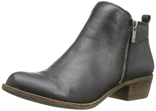 Lucky Brand womens Basel Ankle Boot, Black 03, 8.5 Wide US