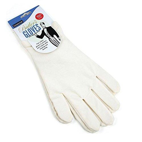 Majordomes Gants - Blanc - 100% Coton Protège Mains - Idéal Pour L'Eczéma Ou Personnes Souffrant D'Allergies - Une Taille (Paquet de 6)