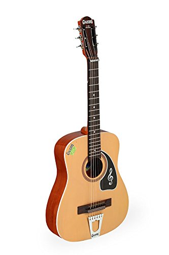Givson G135 Standard, 6-Strings, Acoustic Classical Hawaiian Guitar, Right Handed, Natural, With Guitar Cover/Bag