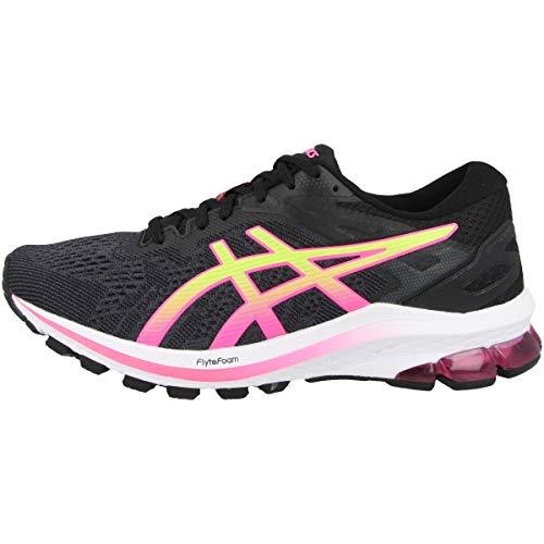 Asics GT-1000 10, Road Running Shoe Mujer, Black/Hot Pink, 39 EU