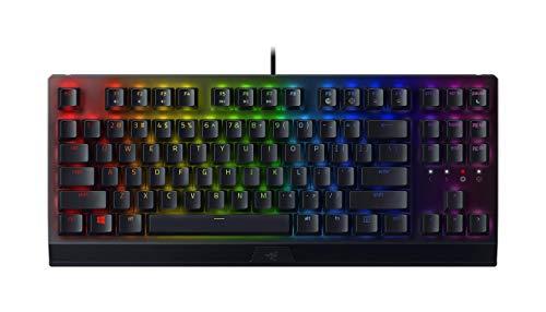 Razer blackwidow v3 tenkeyless mechanical gaming keyboard: razer mechanical switches - chroma rgb lighting - compact form factor - programmable macro functionality - usb passthrough (renewed)