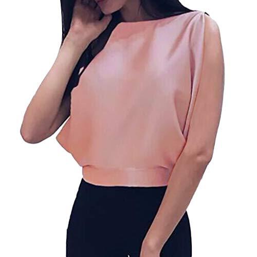 Damen Tops Frauen Backless Bogen Verband Ärmellos Lässige Trägershirt Bluse Hemd Sweatshirt Oberteil Shirts