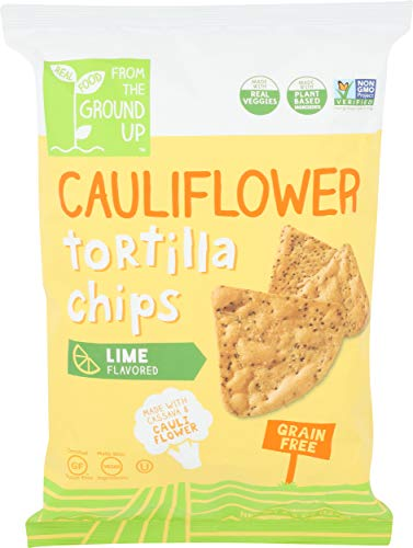 From The Ground Up, Tortilla Chip Cauliflower Lime, 4.5 Ounce